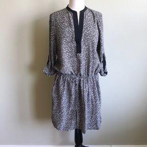 Vince Silk Drawstring Dress
